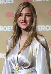 Leelee Sobieski opted for simple styling with this long side-parted 'do when she attended the 'CNN Heroes: An All-Star Tribute.'