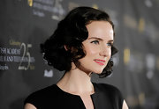 Victoria Summer styled her hair into a curled-out bob for the BAFTA Los Angeles awards season tea party.