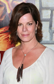 Marcia Gay Harden sported a chic layered razor cut at the premiere of 'Cinema Verite.'