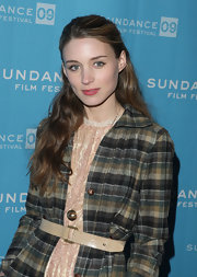 Rooney Mara accessorized with a gold orb pendant at the Sundance screening of 'The Winning Season.'