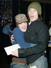 Jena Malone attended the 'Saved' after-party during Sundance wearing a plaid earflap wool cap.