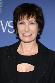 Gale Ann Hurd wore her hair in a short cut with bangs at the 2013 Crystal + Lucy Awards.