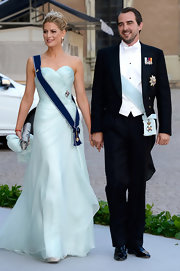 Princess Tatiana looked perfect in a strapless baby-blue gown at the wedding of Princess Madeleine of Sweden and Christopher O'Neill.