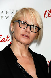 Ellen Barkin wore her hair in a side-parted, straight cut at the opening of 'I'll Eat You Last.'