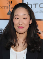 Sandra Oh styled her hair into a half-up 'do with curly ends for the 2011 Independent Spirit Awards nominee brunch.