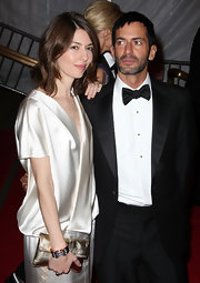 Sofia Coppola worked the Met Gala red carpet wearing a luxurious diamond and gold cuff bracelet.