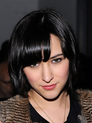 Zelda Williams attended the Yigal Azrouel Fall 2012 show wearing a bob with eye-grazing bangs.