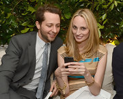 Lauren Santo Domingo glammed up her look with a luxurious gold chain bracelet during the Chanel dinner and auction.