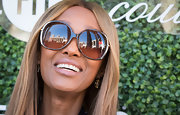 Iman attended the Couture Council Fashion Visionary Awards looking chic in her oversized sunnies.