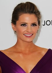 Stana Katic sported amethyst eyeshadow to match her gown.