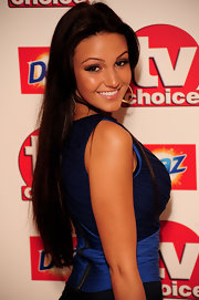 Michelle Keegan left her super-long hair loose when she attended the TV Choice Awards.