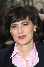 Ines de la Fressange sported a curled bob at the Chanel Couture Spring 2013 show.