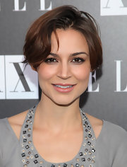 Samaire Armstrong rocked a messy-chic short hairstyle at the Disco Glam event.