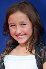 Noah Cyrus sported a casual wavy hairstyle at the screening of 'Ponyo.'