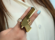 Kylie Jenner attended 102.7 KIIS FM's Wango Tango wearing an oversized gun ring by Melody Ehsani.