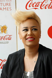 Emeli Sande rocked a windswept fauxhawk at the 2012 London Olympic Torch Relay.