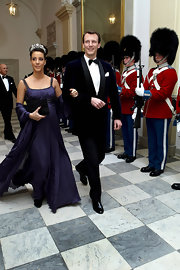 Princess Marie donned a purple empire gown for the Culture and Sport Gala Evening.