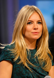 Sienna Miller showed off a trendy layered hairstyle while visiting BET's '106 & Park.'