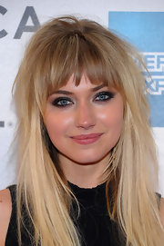 Imogen Poots amped up the edge factor with a smoky eye.