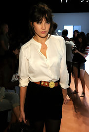 Daisy Lowe caught our eyes with her watch belt at the Lacoste Spring 2011 show.