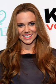 Natalie Coughlin got all prettied up with this long wavy hairstyle for the Club SI Swimsuit event.