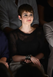 Sami Gayle attended the Chadwick Bell fashion show wearing an ultra-chic bejeweled cuff bracelet.