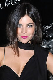 Julia Restoin-Roitfeld went for a striking beauty look with hot pink lipstick during the Chanel dinner.