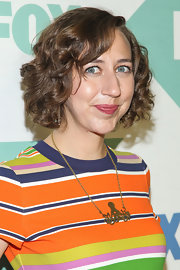 Kristen Schaal wore a cute curly bob at the Fox All-Star Party.