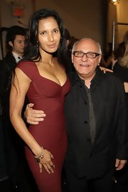 Padma Lakshmi styled her sexy dress with a cute charm bracelet for the Herve Leger by Max Azria fashion show.