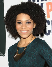 Kelly McCreary attended the New York premiere of 'I Just Want My Pants Back' sporting her natural curls.