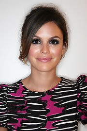 Rachel Bilson attended Fashion's Night Out rocking a messy updo.