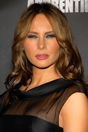 Melania Trump went heavy on the eyeshadow for a smoldering beauty look.