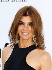 Carine Roitfeld rocked a messy-chic wavy 'do at the amfAR Gala.