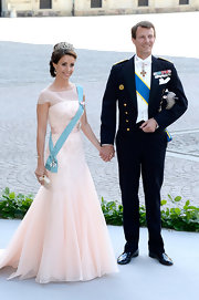 Princess Marie looked downright regal in a pale pink gown at the wedding of Princess Madeleine of Sweden and Christopher O'Neill.