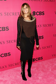 Carine Roitfeld attended the Victoria's Secret fashion show wearing a fab pair of embellished black knee-high boots.