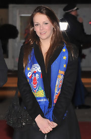 Pauline Ducruet accessorized with a studded black hobo bag at the Monte-Carlo International Circus Festival.