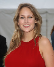 Leelee Sobieski left her hair down in beachy waves when she attended the Metropolitan Opera season opening.