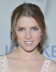 Anna Kendrick opted for a casual center-parted ponytail when she attended the launch of 'Major Must Haves.'