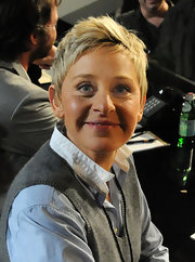 Ellen DeGeneres looked cool with her fauxhawk at the Hope for Haiti Now benefit.