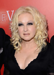 Cyndi Lauper simply curled her blonde locks for the RED Party in Cannes.