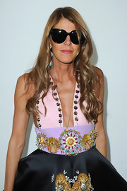 Anna dello Russo arrived for the Hermes fashion show wearing a pair of oversized shades.