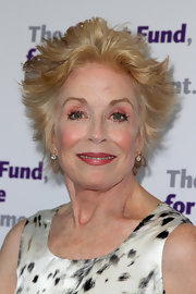 Holland Taylor looked funky with her layered razor cut at the Actors Fund's Tony Awards party.