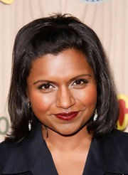 Mindy Kaling looked cute wearing this half-up bob at the premiere of 'Parks & Recreation.'