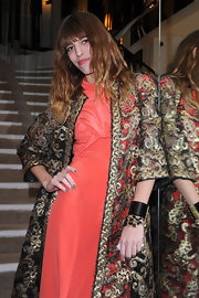 Lou Doillon's black cuff bracelet added a touch of punk to her glamorous outfit at the Chanel dinner.
