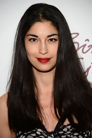 Caroline Issa chose a gorgeous shade of red for her lips.