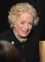 Holland Taylor styled her hair into a messy-chic 'do for the Tony Awards nominees press reception.