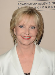 Florence Henderson attended the Academy of Television Arts & Sciences party wearing a short hairstyle with wispy bangs.