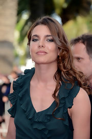 Charlotte Casiraghi went for a sultry beauty look with a smoky eye.