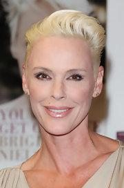 Brigitte Nielsen wore her hair in a fauxhawk at the launch of her new book.
