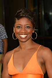 Montego Glover wore her hair in a sculpted fauxhawk at the screening of 'Sparkle.'
